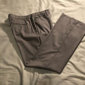 NY & Co low rise pant. Tan w brown stripe sz 16